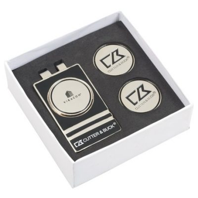 Cutter & Buck® Tour Money Clip Gift Set